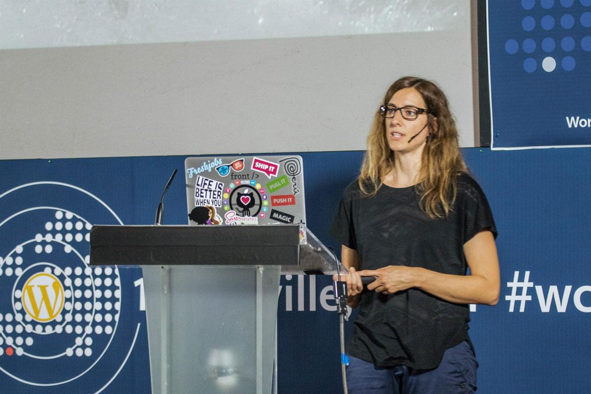 Karin Christen at WordCamp Europe