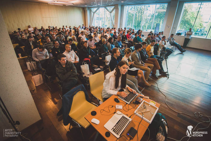 Kyiv did not host its own WordCamp just yet but there are a lot of people on local community-organized events