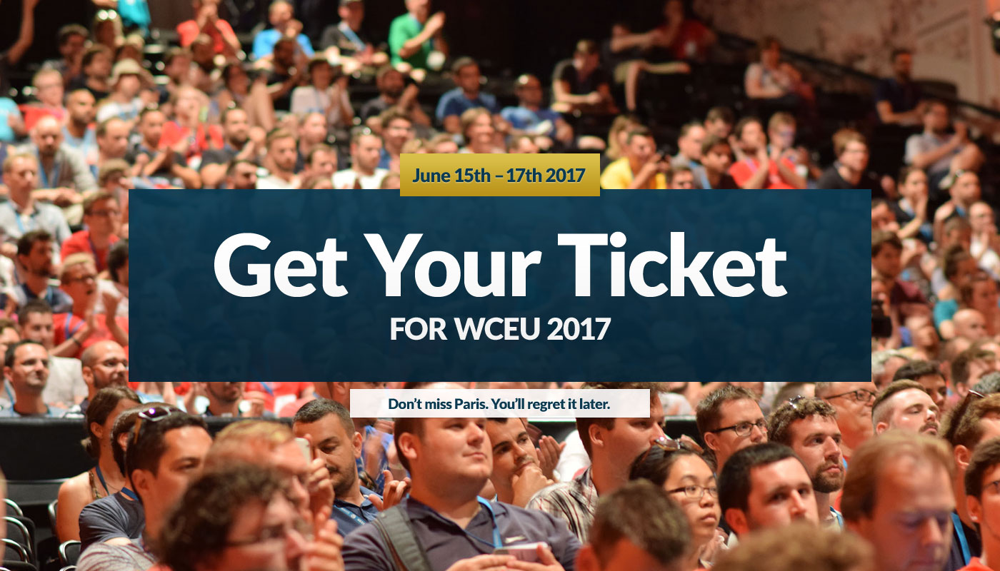 Get your ticket for WordCamp Europe 2017 today. Don't miss Paris, you'll regret it later. — Photo by Jonas Andrijauskas