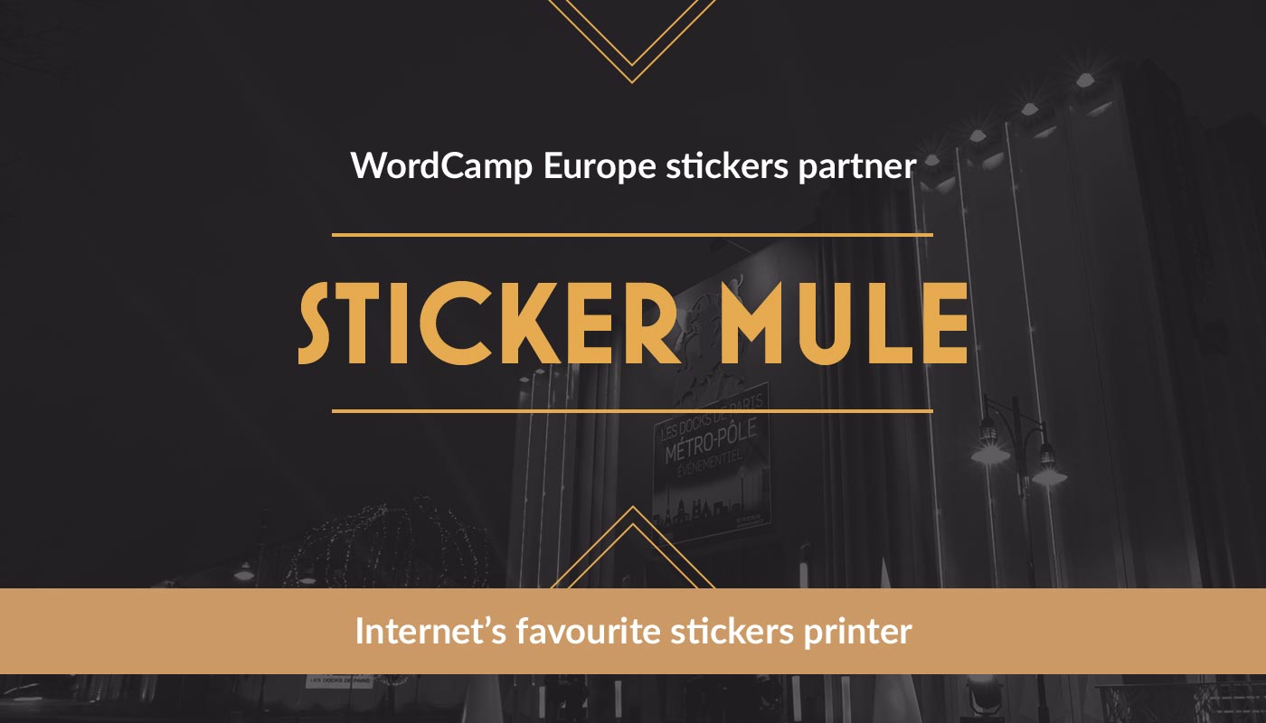 Sticker Mule is WordCamp Europe Stickers Partner